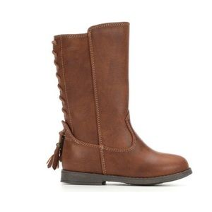Infant/Toddler Brown Zip Boots